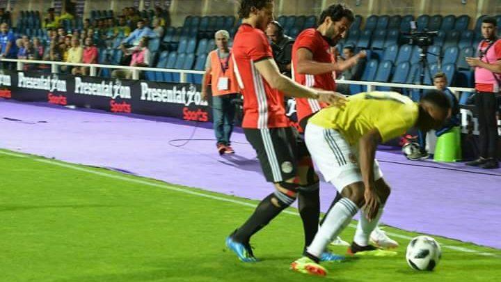 فيديو : مصر تتعادل مع كولومبيا